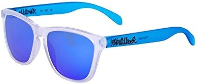 Northweek Regular Smoky White / Smoky Blue - Blue Polarized - Gafas de sol unisex, multicolor