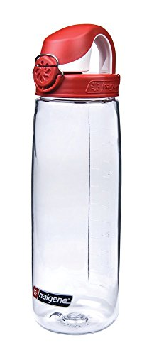 Nalgene 'Everyday OTF' - 0,7 L, transparent, Deckel rot-weiss