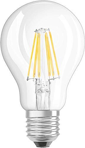 Osram LED Base Classic A Lampe, in Kolbenform mit E27-Sockel, nicht dimmbar, Ersetzt 8.5W=60Wt, Matt, Warmweiß - 2700 Kelvin, 3er-Pack