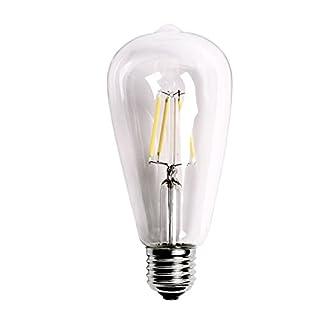 GEZICHTA LED-Leuchtmittel, Vintage, Retro, klassisch, E27, 2 W-8 W, Schraubsockel, ST64 Globe Lampe, gelb, 2w