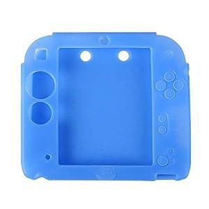 Silikon Gummi Schutzhülle Schutztasche Hülle Abdeckung Case Cover Haut Skin für Nintendo 2DS rutschfest, kratzfest Blau