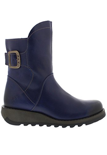 FLY London Damen Sien Chelsea Boots Blue