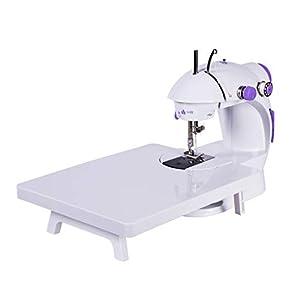 GWELL Mini Nähmaschine Mini Sewing Machine mit Verlängerungstisch Fußpedal LED Nählicht Doppelgeschwindigkeitssteuerung Elektrische Kleine Haushaltsgeräte für Anfänger Kinder DIY Zuhause Reisen