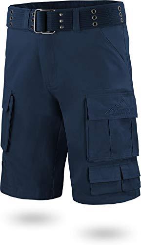normani Vinatge Cargo Shorts mit Gürtel US BDU Bermuda für Herren aus 100% Bio-Baumwolle Farbe Navy Größe L