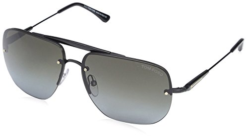 bce5d63ed2a Tom Ford Lunettes de soleil FT0380 02B (61 mm) Black