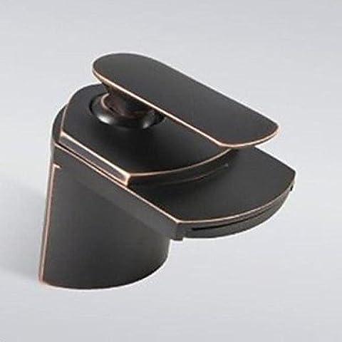 XHDWNBM Disipador negro anodizado bronce continental caliente y fría Cu todos cuenca antiguo grifo de