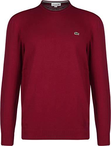 Lacoste Round Neck Sweater Bordeaux/Navy
