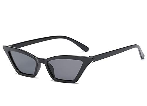 Macxy - Sexy Katzenaugen-Sonnenbrille Frauen Kleine Retro Cateye Red Sun-Glas-Lady 2019 Brillen Shades UV400 Brille [Schwarz]