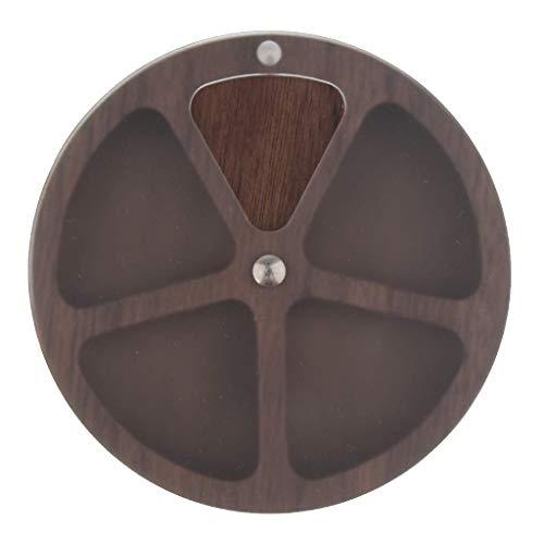 Tubayia Tragbar Holz Pillendose Pillenbox Pill Organizer für Outdoor, Jagd, Angeln, Camping (# 2)