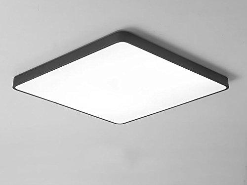 QMZB Deckenleuchte LED Quadratisches Deckenlicht Badezimmer Lampe(Weißes Licht) 30Cm*30Cm*5Cm,Black
