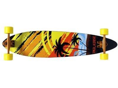 Paradise Longboard Skateboard White Sunset Fishtail 39,5x9,5 inch