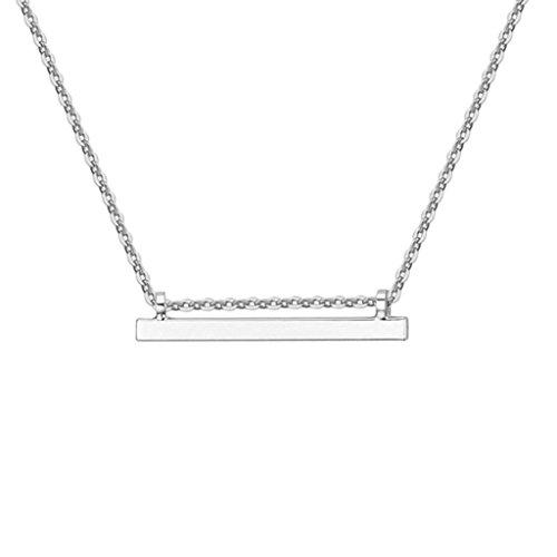 Collana Donna Oro Placcato Vintage Metallo Bar Bianca Collane e ciondolo per Donna di AieniD