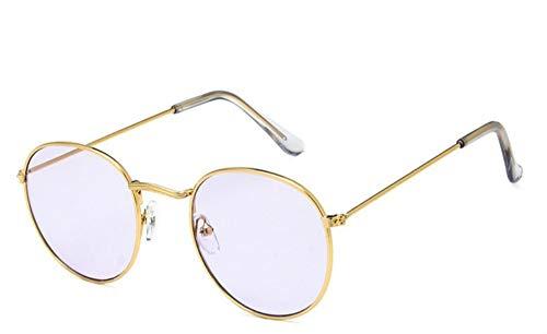Sonnenbrille Runde Gläser Frame Frau Männer Brille Retro Gold Clear Purple Optical Frames Metall Klare Linse Schwarz Silber Gold Brillen
