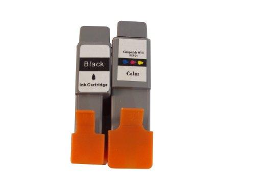 Preisvergleich Produktbild 5 kompatible Druckerpatronen ersetzen Canon BCI 21 / 24 BK,  BCI 21 / 24 Color,  geeignet für Canon PIXMA IP1000 / PIXMA IP1500 / PIXMA IP2000 / PIXMA MP110 / PIXMA MP130 / Bubble Jet i250 / i255 / i320 / i350 / i355 / i450 / i450D / i450x / i455 / i470 / i470D / i475 / i475D / Bubble Jet S200 / S200x / S300 / s330 Photo / SmartBase MP360 / MP370 / MP390 / MPC190 / MPC190s / MPC200 Photo / S100 / S200 / S300 / S330 Photo / S5500 / BJC-2000 / BJC-2100 / BJC-2115 / BJC-2120 / BJC-400 / BJC-400j / BJC-4000 / BJC-4000e / BJC-410 / BJC-410J / BJC-4100 / BJC-4200 / BJC-4300 / BJC4300s / BJC-4302 / BJC-4304 / BJC-4400 / BJC-455j / BJC-4550 / BJC-4650 / BJC-5000 / BJC-5100 / BJC-5500 / Multipass C20 / C30 / C50 / C70 / C75 / C80 / C530 / C2500 / Fax B180C / B210C / B215C / B230C