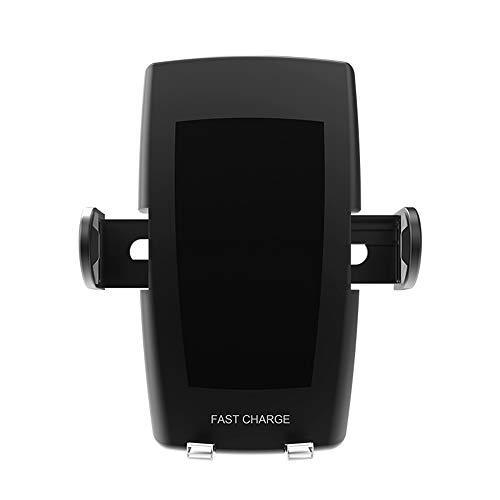 WangLx Ele Caricatore Wireless Auto, Caricatore Wireless Veloce per Auto Compatibile iPhone XR/X/ 8/8 Plus, Samsung S9/ S9 +/ S8/ S8 + e Tutti i Dispositivi Qi-Enabled Automatico Induzione, Black