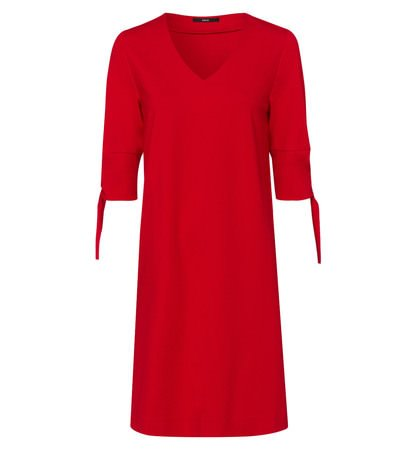 zero Damen Kleid mit V-Ausschnitt 313959 flame red 42