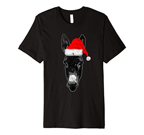 Esel Weihnachten Santa Hat Spirit Animal Love ()