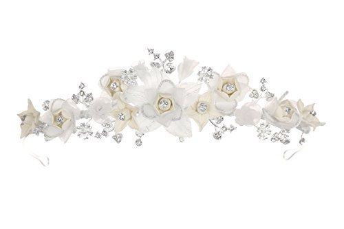 Venus Jewelry Tiara o corona Starburst de boda de flor para mujer - Hecha a mano