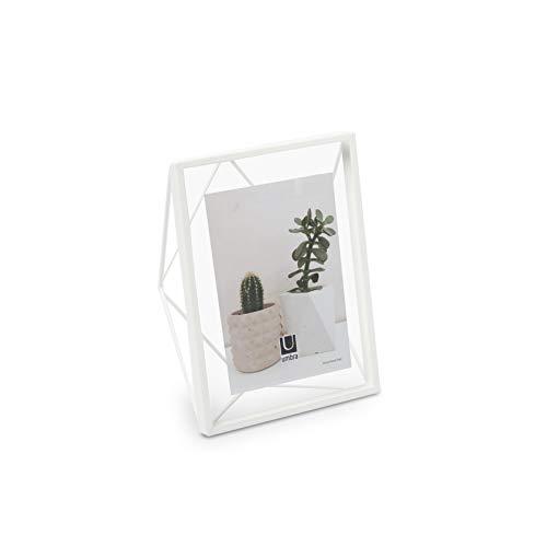 UMBRA Prisma Cadre photo filaire en métal entre deux-verres Prisma, poser ou à accrocher, Pour 1 photo 13x18cm blanc