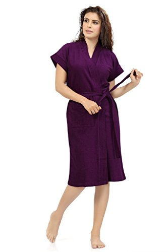 Superior Women's Cotton Bathrobe (Purple-SC001 _Purple _Standard)
