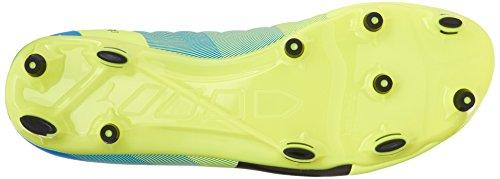 Puma evoPower 3.3 FG Soccer Cleats Leder Klampen Sfty Yellow-Black-Atmc Blue