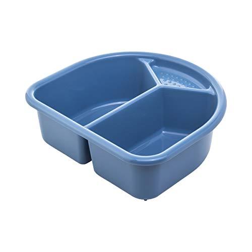 Rotho Babydesign Waschschüssel, 4l, Ab 0 Monate, TOP/Bella Bambina, Cool Blue (Blau), 20006 0287