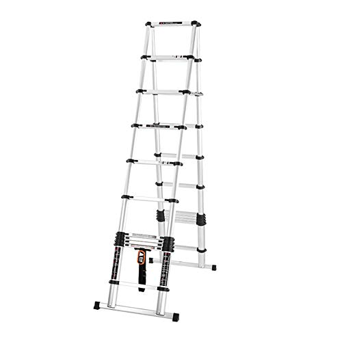 ZWYY Aluminium-Teleskopleiter, tragbare Verlängerungs-Aufzugsleiter-Multi Funktions-Rutschfeste Technik-Leiter für Haus, Innen- / Außendekoration,4.5M (Multi-funktion Leiter)