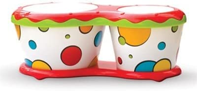 TOYZTREND Musical Instruments for Kids(Assorted Colours & Designs) (Musical Bongo for Kids)