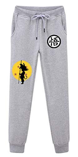 Dragon Ball Kostüm Z Einfach - Cosstars Anime Dragon Ball Z Goku Sweatpants Jogginghose Cosplay Kostüm Lange Trousers Sporthose Trainingsanzug mit Taschen Grau 5 S