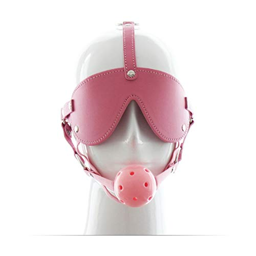 CSH Swimsuit Adult Products Rollenspiel Blindfolds Plug Set Pferdeförmigen Schädel App Leistung Schwarz Rot Rosa Harter Ball Jeans (Color : Pink)