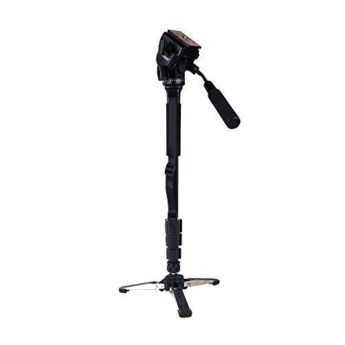Andoer® Yunteng VCT-288 Tripod Holder Fotografia Monopod fluido Pan capo Unipod per Canon Nikon Camera