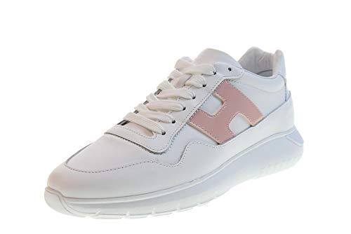 HOGAN Zapatos Mujer Zapatillas Bajas HXW3710AP21I6S0QAN H371 INTERACTIVE3 Talla 36 Blanco Rosa
