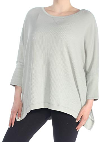 Calvin Klein $49 Womens New 1512 Green Jewel Neck Hi-Lo Casual Top 1X Plus B+B