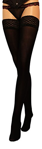 Microfibre Hold Ups 60 Denier with Lace Top Sheer Hold-Ups