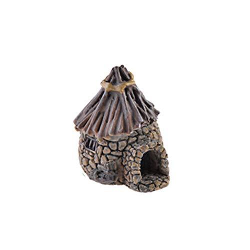 Sunhoyu Mini Kleines Haus Cottages DIY Handwerk Micro Landschaft Dekoration Zubehör Figur Moos Terrarium Fee Garten Ornament