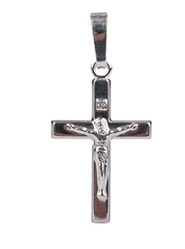 Unbespielt Kettenanhänger Silberanhänger für Halskette Unisex Anhänger Kreuz mit Jesus 925 Silber 19 x 11 mm inkl. kleiner Schmuckbox