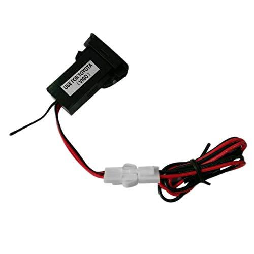 Adattatore per Caricabatterie per accendisigari a Doppia Porta USB per Auto 12V-24V per Materiale durevoleVIGO Facile da installare e Utilizzare (Nero) ITjasnyf