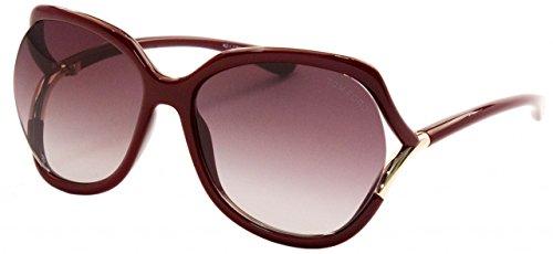 Tom ford -  occhiali da sole  - donna bordeaux glanz 60
