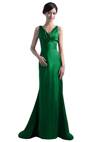 Sunvary donna elegante cinghie per Spaghetti, con scollo a V, per abiti da sera o da cerimonia, con fodero Mother's Gowns Green