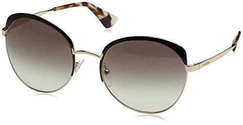Prada Damen 0PR54SS QE30A7 59 Sonnenbrille, Schwarz (Black/Pale Gold/Grey),