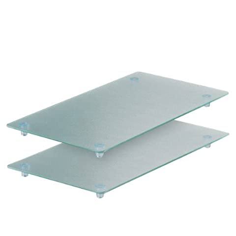 Zeller 26207 Planche à découper en verre pour plaque vitrocéramique 4 feux Lot de 2 52 x 30 x 3 cm