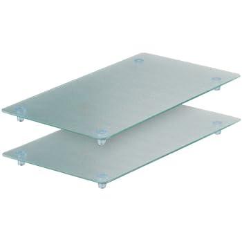 prot ge vitroc ramique set de 2 plaques verre cuisine maison. Black Bedroom Furniture Sets. Home Design Ideas