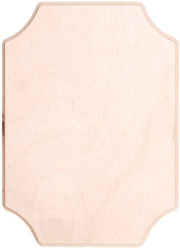 Walnuss Hohl Baltischer Birke French Ecke Plaque, 5von 17,8cm -