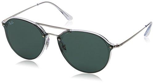 Rayban Unisex-Erwachsene Sonnenbrille Rb4292n 632571 62 Mm Transparent/Darkgreen 62