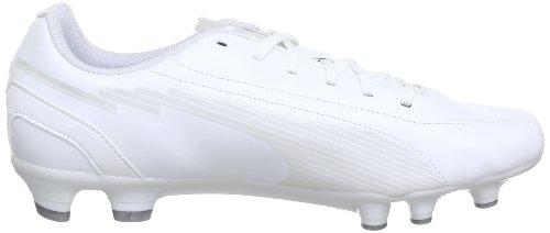 Puma evoSPEED 5 FG 102586, Scarpe da calcio uomo Bianco (Weiß (white-white-puma silver 07))