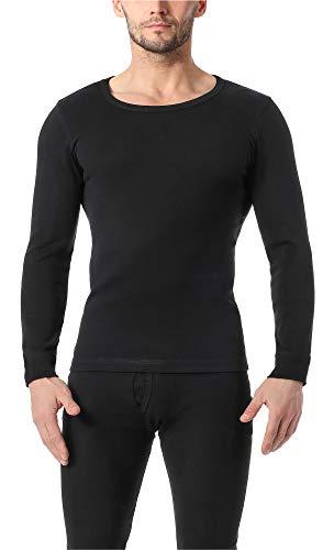Timone Camisetas Mangas Largas Ropa Térmica Hombre TISZ004 (Negro, XXL)