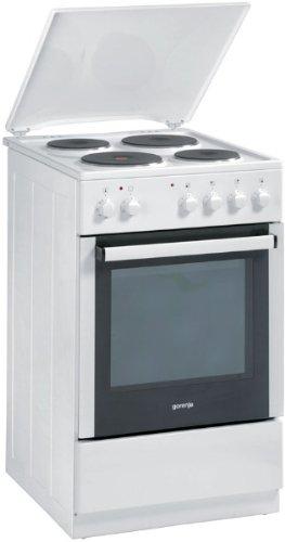 Gorenje E 52103 AW Elektroherd mit emaillierter Kochmulde / A / 53 L / weiß (Kochherd)