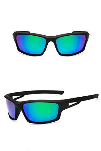 EDSWXT Schutzbrillen Fahrrad-REIT-Sonnenbrille-Radfahrengläser Für Männer Frauen, Schwarzes Grün