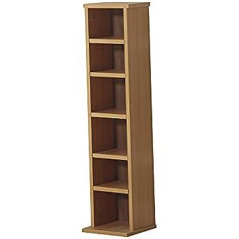 homcom dvd cd storage shelf rack media storage unit 6 shelves racks wooden bookcase display unit