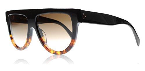 celine-41026-black-tortoise-frame-brown-gradient-lens-plastic-sunglasses